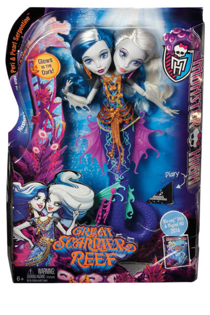 NEW Monster High Great Scarrier Reef Hisssters Peri & Pearl