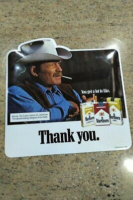 NEW 1984 Marlboro Man Thank You For Shopping Here Decal New free shipping RARE