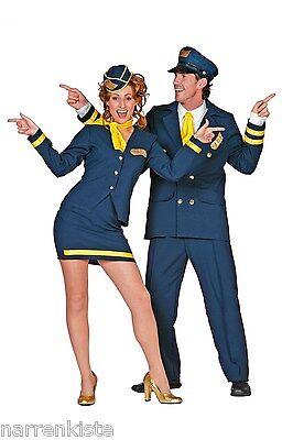 Flugbegleiterin Stewardess Pilot Pilotin Flug Capitan Uniform Kostüm Kleid Sexy (Pilot Sexy Kostüme)