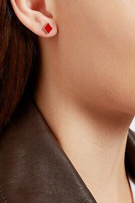 Alison Lou 14k Red Enamel Casino Diamond Stud Earring - SOLD OUT