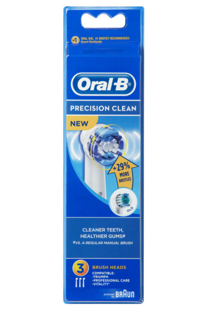 NEW Oral-B EB20-3 Precision Clean 3 brushes