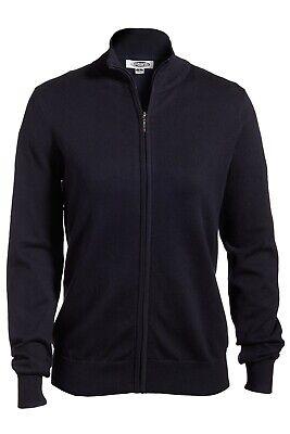Women's Full Zip Fine Gauge Cardigan Sweater Full Zip Fine Gauge