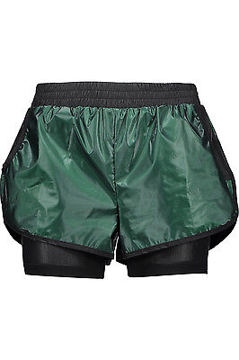 KORAL ACTIVEWEAR Scout Layered Run Sport Coated-Shell & Mesh Shorts Forest Green