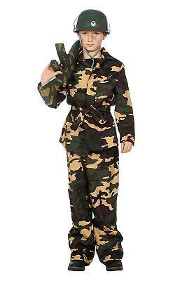 Soldat Rambo Armee Uniform Söldner Kinder Kostüm Tarnanzug Soldatenkostüm Ranger