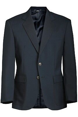 MEN'S SINGLE-BREASTED BLAZER Edwards uniform Jacket Dark Navy Size 40R