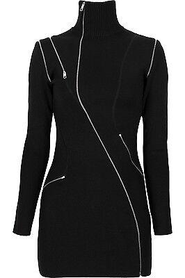JULIEN MACDONALD Zip Detail Merino Wool Blend Mini Dress  Zip Detail Mini
