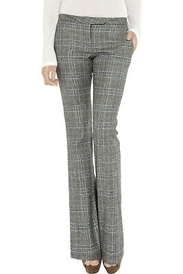 A.L.C. grey checked wool flared trousers - size US 2 - F 36