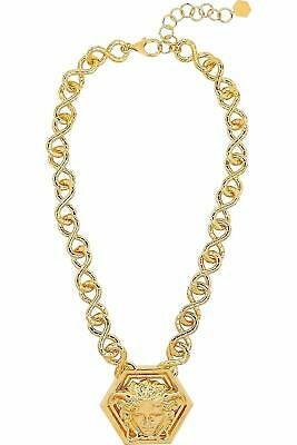Versace by Haas Brothers Large Medusa Chain Pendant Necklace Medallion $1,725