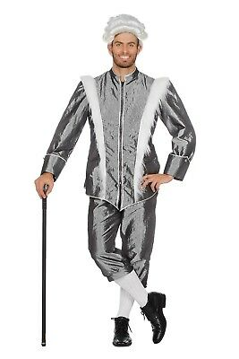 Silber Eiskönig Kostüm für Herren NEU - Herren Karneval Fasching Verkleidung Kos