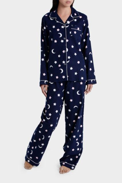 NEW Soho 'Basics Full Flannel PJ Set SSOW17002 Navy