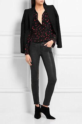 Sales New Kate Moss for Equipment SLIM signature star silk shirt sz XS M