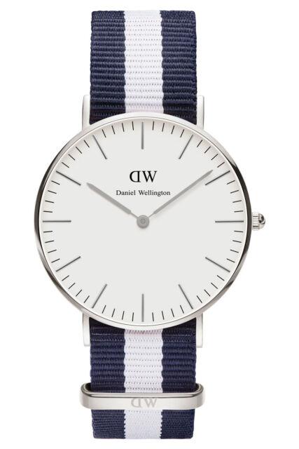 NEW Daniel Wellington Classic Glasgow 36mm Silver Watch