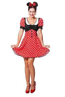 Süßes Mickey Mouse Damenkostüm NEU - Damen Karneval - Mickey Mouse Kostüme