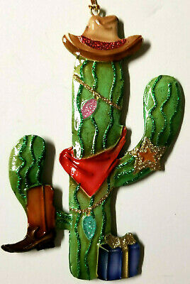 Saguaro Cactus Cowboy Southwestern Christmas Ornament for Tree or Gift ()