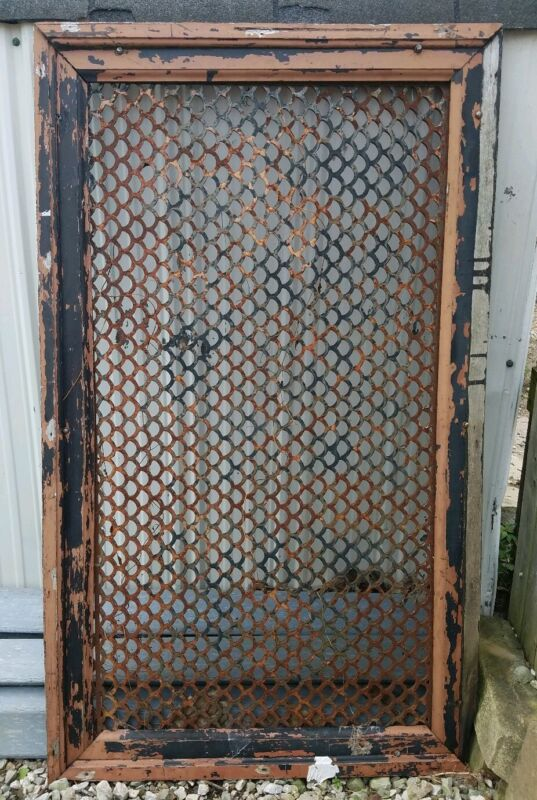 Rectangular Floor Grate Vent  Big Huge Solid Cast Iron Vintage Old