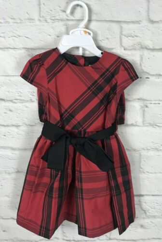 NEW Ralph Lauren Baby Girls Red & Black Plaid Holiday Dress Size 12 Months