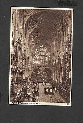 Vintage Sepia Postcard Interior Exeter Cathedral Choir East Exeter Devon unpost