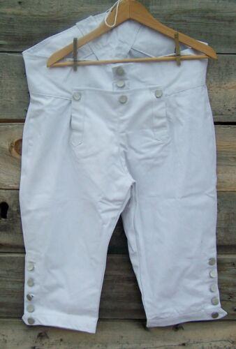 Revolutionary War Civilian Militia Canvas Breeches Trousers  34