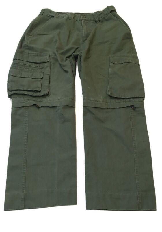 BSA Boy Scout Switchback Pants Convertible Zip Off Shorts Uniform Youth 32x26