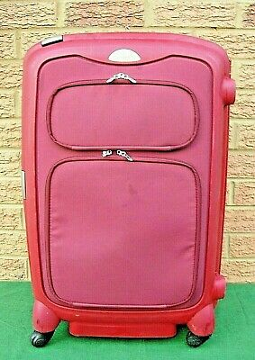 Samsonite Medium Hard Shell Lockable Suitcase Red 4 Wheels