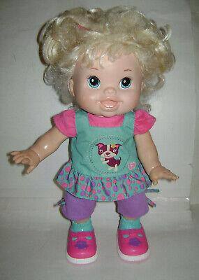 HASBRO Baby Alive Blonde Wanna Walk Interactive Talking Walking Doll CUTE & RARE for sale  Cumming