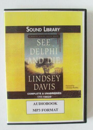 See Delphi and Die by Lindsey Davis Unabridged MP3 CD Audiobook
