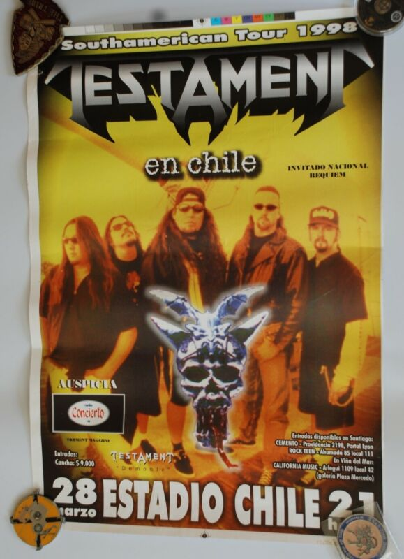 #44 Testament Demonic tour poster