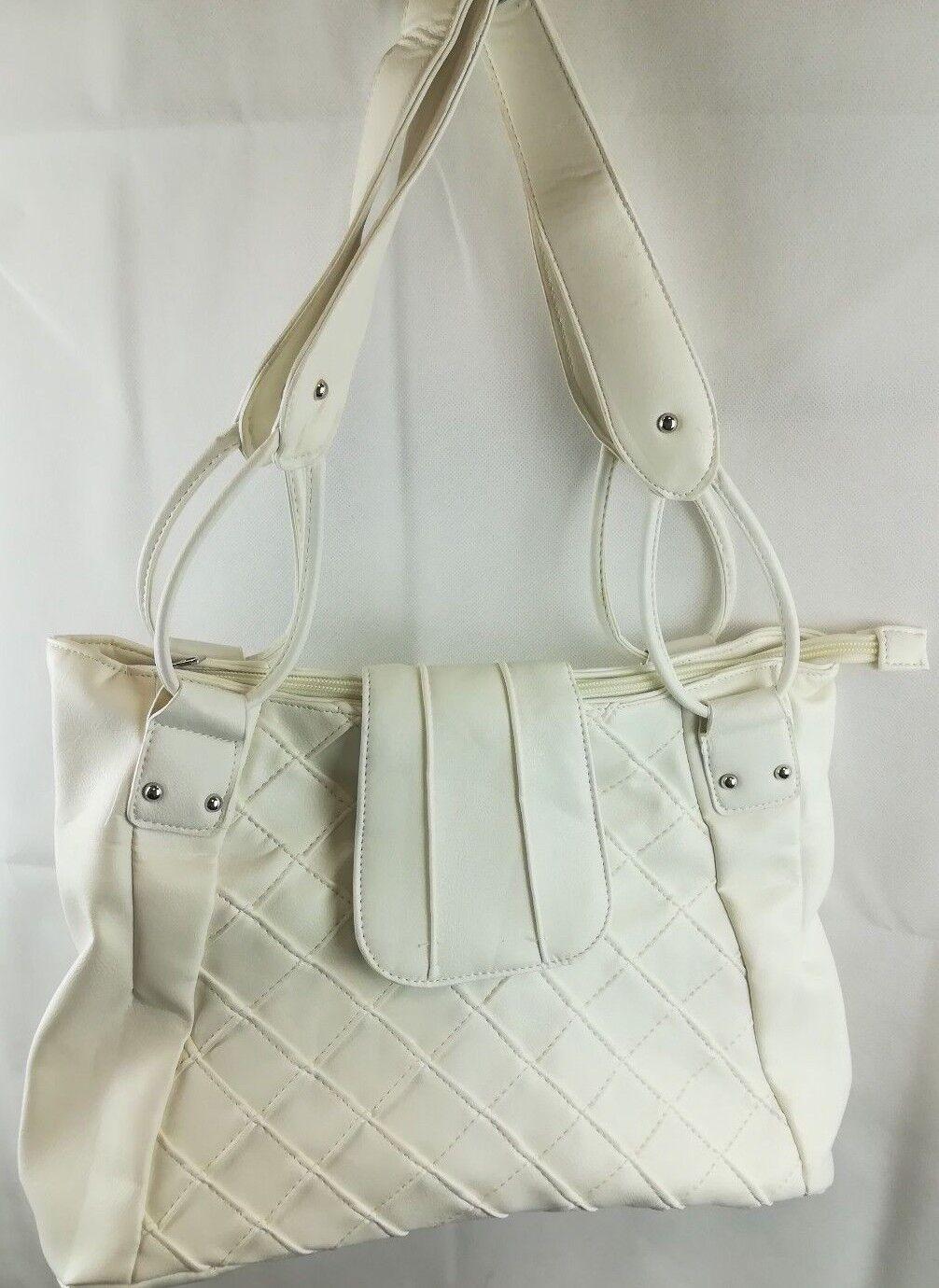 Damen Handtasche in Weiß Neu aus Kunststoff