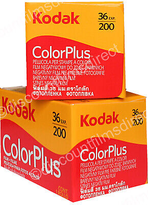 2 x KODAK COLORPLUS 200 35mm 36exp COLOUR PRINT CAMERA FILM - 1st CLASS POST