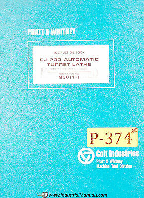Pratt Whitney Pj200 Automatic Lathe Instruction Manual 1966