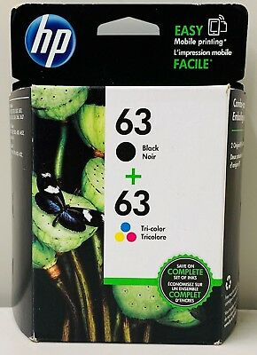 New Genuine HP 63 BC Ink Cartridges Deskjet 1110 1111 2131 Envy 4511 4512 4522
