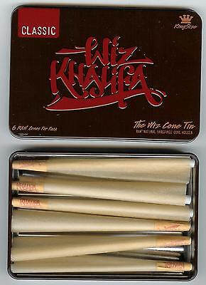 Raw Rolling Papers And Wiz Khalifa Cone Storage Tin  Includes 6 Cones  King Size