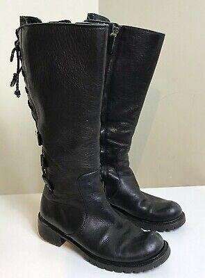 Fendi FF Women's Rockoko High Combat Boots Full Zip/Tie Size 7.5 US 37.5 EU