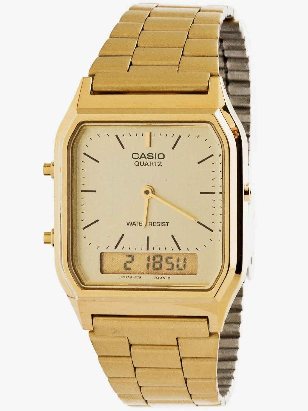 Casio AQ230GA-9D Mens Casual Classic Analog Digital Gold