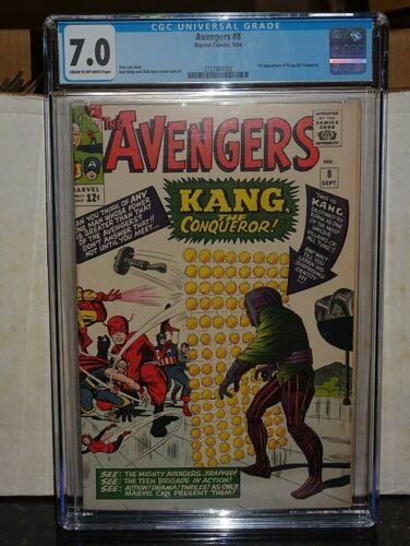 Avengers #8 (Marvel) CGC 7.0 1st Appearance Kang the Conqueror