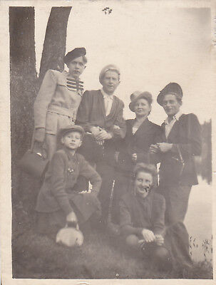 1940s Travesty dressed men women fashion gay interest old Russian Soviet photo