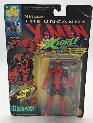 "1992 Marvel Uncanny X-Men X-Force MOC 5"" Deadpool Action Figure Toy Biz"