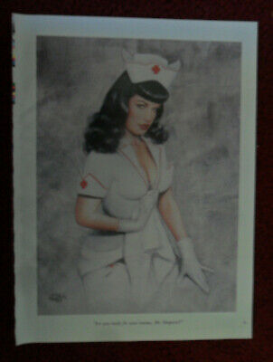 OLIVIA De Berardinis Sexy Girl Magazine Pin-Up Art ~ Nurse Bettie Enema - Pin Up Nurses