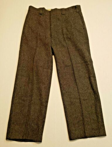 Vintage Woolrich Work Hunting Pants Mens 36 x 28 Charcoal Gray
