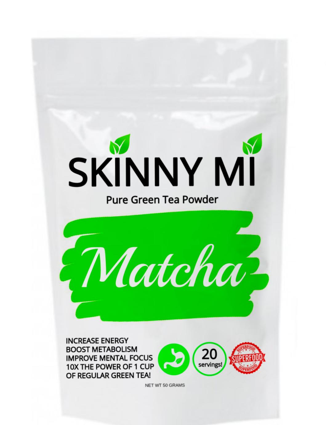 Skinny Mi MATCHA Green Tea Powder - 100% Pure Matcha for wei
