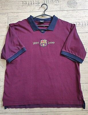 243b933e55a Fc Barcelona 1899-1999 jersey XL men s shirt polo official nike soccer  football