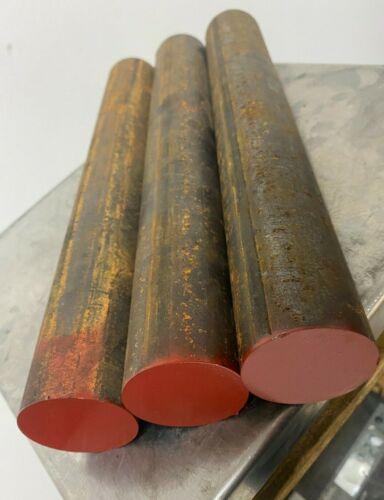 "1045 HR Steel Round Rod, 1-3/4"" diameter x 12"" Long  (3 PC LOT)"