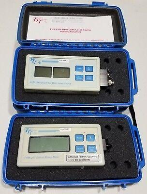 Tti Fpm250 Optical Power Meter Fls1350 Dual Fiber Optic Laser Source 13101550nm