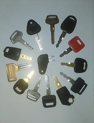 14 Key Set Heavy Equipment Key Cat Catipillar Daewoo Hitachijohn Deere Jcb