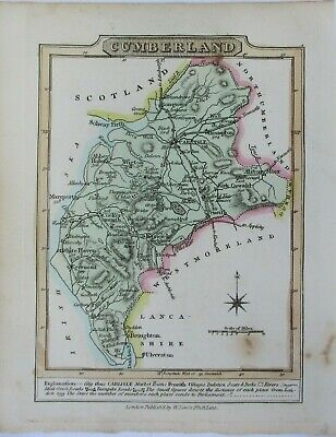 Antique map of Cumberland by William Lewis 1819