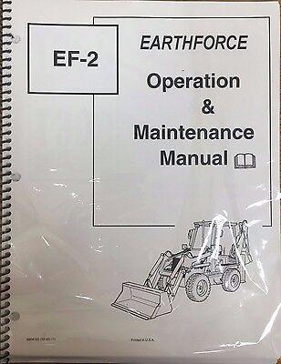 Bobcat Ef-2 Backhoe Loader Operation Maintenance Manual Owners 6904720