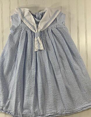 Bailey Boys Classics Size 5 Girls Blue Seersucker Dress