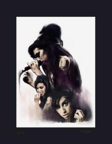 Amy WInehouse artist Proof Lithograph With COA