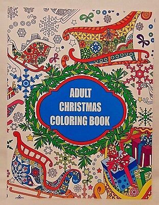 Christmas Adult Coloring Book NEW Perforated Pages Easy Removal Kingsbridge ()
