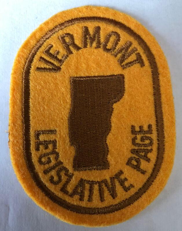 Vermont Legislative Page Patch ~ New Condition